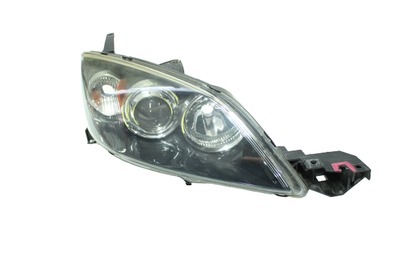 Srebrna lampa prawa przednia xenon do Mazdy 3 I BK