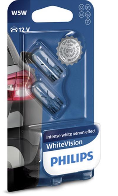 Niebieskie żarówki W5W V15 Philips WhiteVision