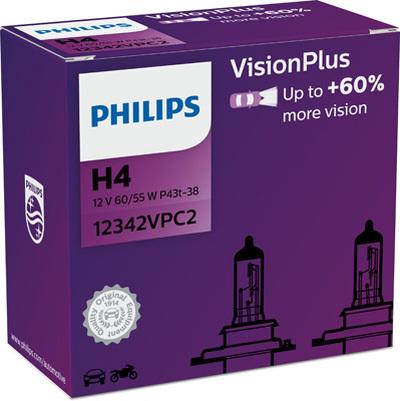 Żarówki H4 Philips w fioletowym opakowaniu .