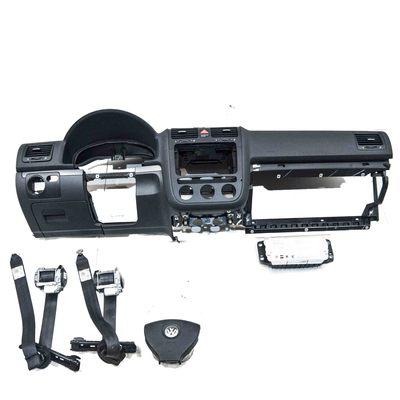 czarna deska rozdzielcza kompletna z napinaczami i airbagiem do VW golfa V kombi