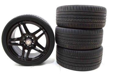 Oryginalne czarne koła do Mercedesa wersji AMG o rozmiarze 8Jx18 et50