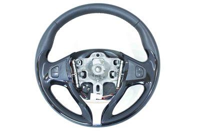 czarna kierownica skórzana multifunkcyjna do Renaulta Clio IV