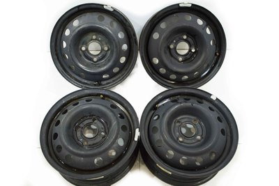 czarne stalowe felgi do opla 5.5JX14 ET49 4x100