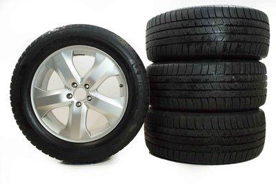 komplet kół do Mercedesa GL ML W164 z oponami zimowymi Michelin o rozmiarze 265/55R19