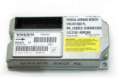 Srebrna skrzynka sensor airbag Volvo S60 V70 0285001655