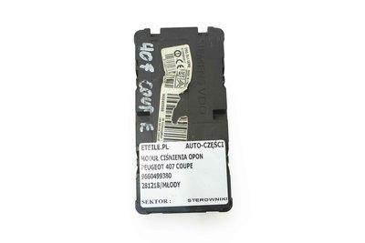 Czarny plastikowy moduł ciśnienia w oponach Peugeot 407 Citroen C5 9660499380