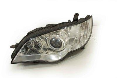 Biało czarna lampa lewa przednia do Subaru legacy IV