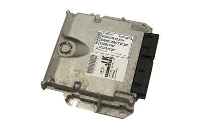 Srebrny metalowy komputer silnika do Subaru Legacy IV 2.0D 275800-7492