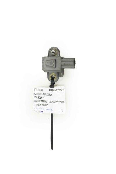 Szary czujnik uderzenowy do VW Golf VI z numerem części : 1KM955557 SME