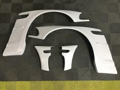 poszerzenia błotników przednich do BMW 3 E46 coupe pandem body kit