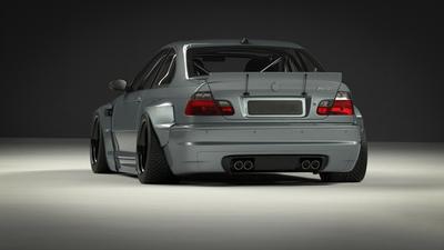 kompletne poszerzenie karoserii wide body kit do BMW 3 E46 pandem błotników