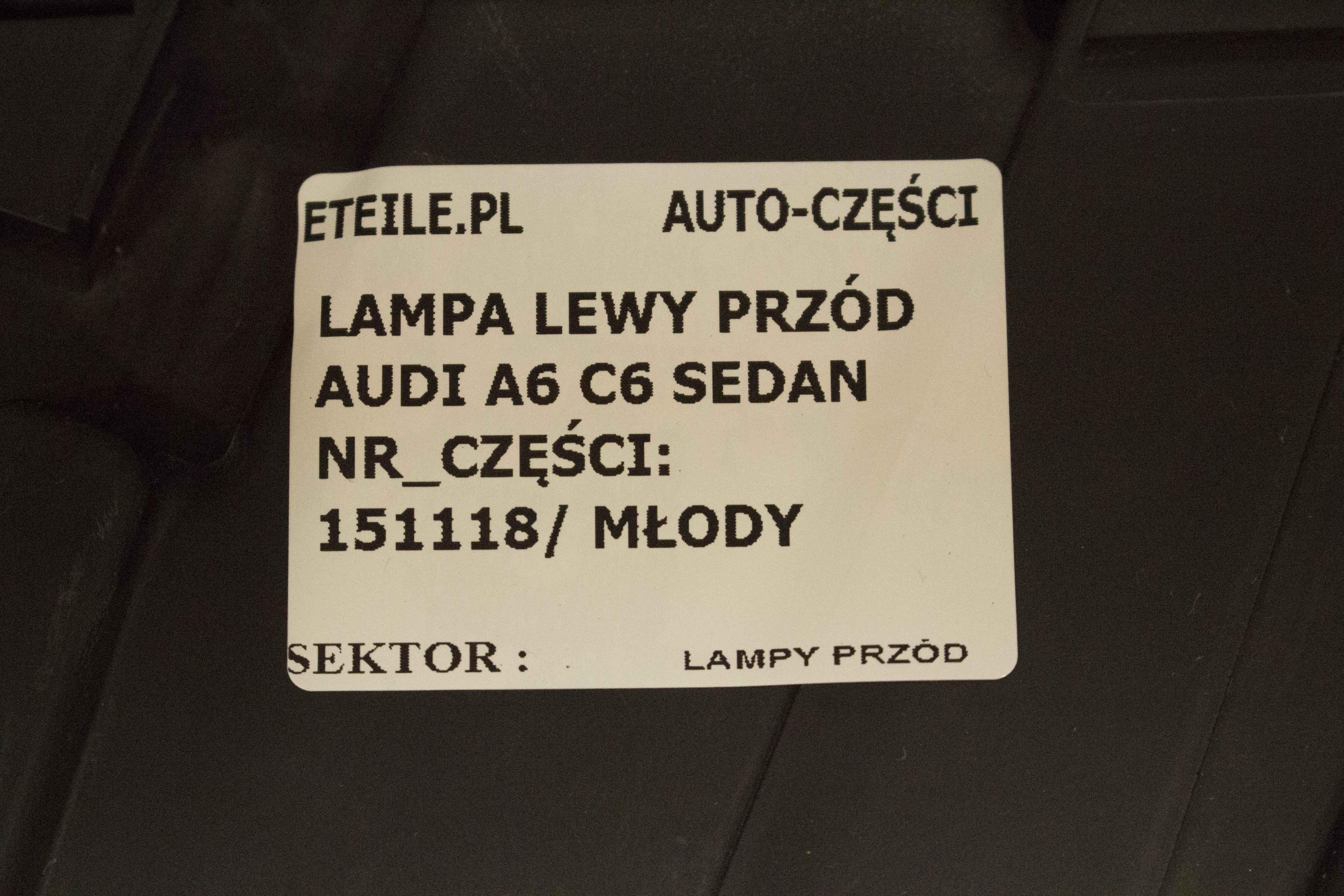 Eteile Sklep Lewy A6 pl C6 Przednia 4f0 Lampa Lewa Audi Przód tChQordBsx